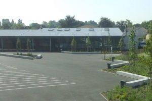 Myway - projet d'Ambares, collège Claude Massé, Mme Cloup paysagiste, banquette argent sablée 2