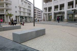 PVT Myway - BHNS de Pau, Signes paysages, banquette harlem 100x60x40 anthracite sablé