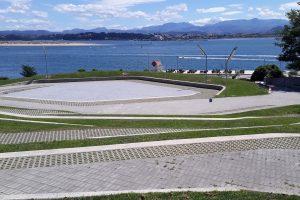 PVT - plaza de San Martín de la Mar, Santander aout 2019